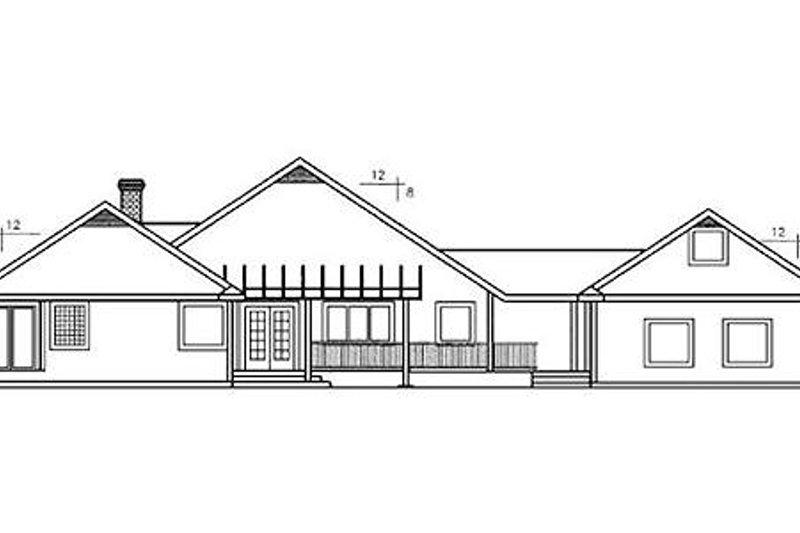 Traditional Exterior - Rear Elevation Plan #60-243 - Houseplans.com