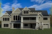 Craftsman Style House Plan - 5 Beds 3.5 Baths 7755 Sq/Ft Plan #920-1 Exterior - Rear Elevation