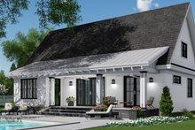 House Plan Design - Farmhouse Exterior - Rear Elevation Plan #51-1146