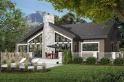 Contemporary Style House Plan - 4 Beds 3 Baths 2146 Sq/Ft Plan #23-2263 Exterior - Front Elevation