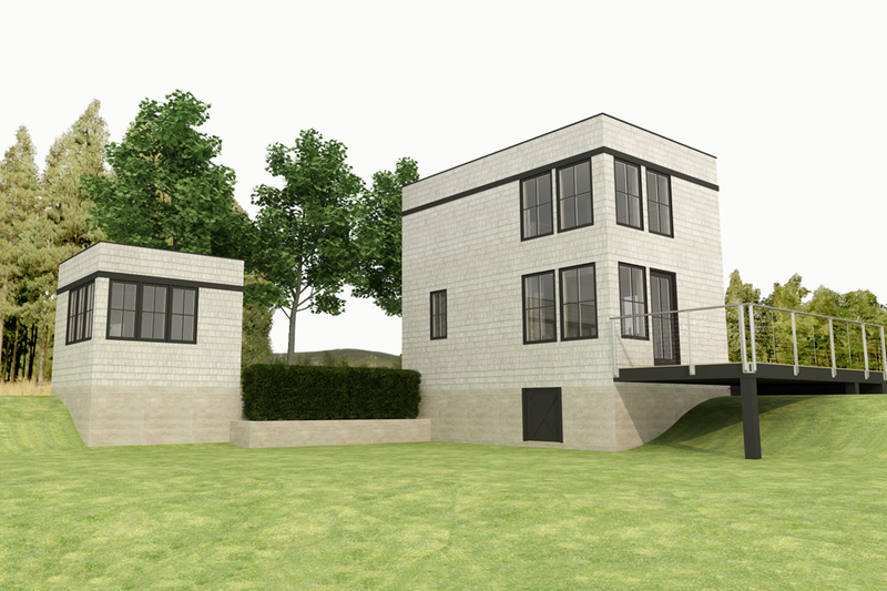 Modern Style House Plan - 1 Beds 1 Baths 610 Sq/Ft Plan #914-4 Exterior - Front Elevation