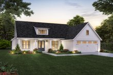 House Blueprint - Farmhouse Exterior - Front Elevation Plan #1074-45