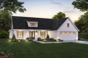 Farmhouse Exterior - Front Elevation Plan #1074-45