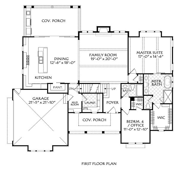 Farmhouse Floor Plan - Main Floor Plan Plan #927-1007