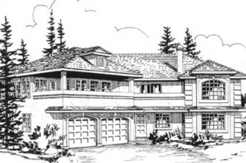 House Blueprint - European Exterior - Front Elevation Plan #18-9333