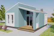 Contemporary Style House Plan - 2 Beds 1 Baths 713 Sq/Ft Plan #542-14