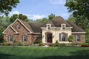 European Style House Plan - 3 Beds 2 Baths 1953 Sq/Ft Plan #430-118 Exterior - Front Elevation