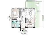 Contemporary Style House Plan - 3 Beds 2 Baths 1544 Sq/Ft Plan #23-2037 Floor Plan - Main Floor