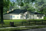 Mediterranean Style House Plan - 5 Beds 5.5 Baths 4820 Sq/Ft Plan #1-961 Exterior - Front Elevation
