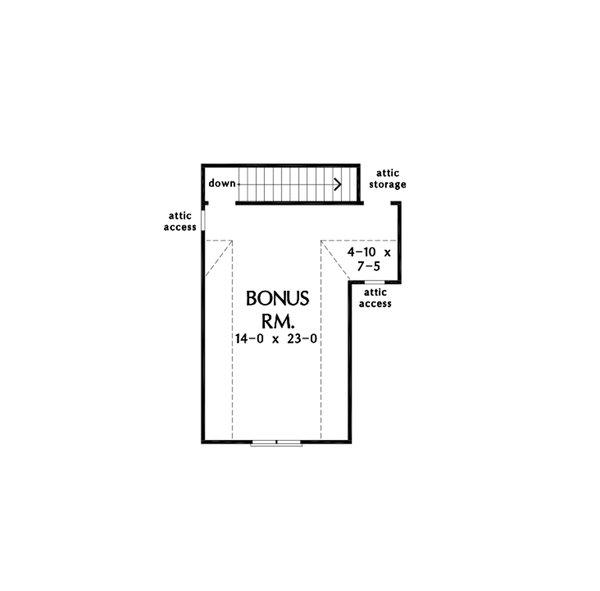 Cottage Floor Plan - Other Floor Plan #929-1129