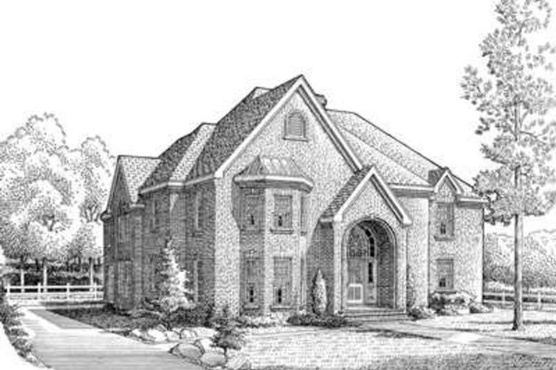 European Exterior - Front Elevation Plan #410-397