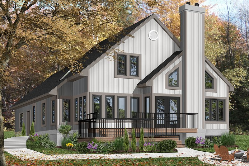 Home Plan - Contemporary Exterior - Front Elevation Plan #23-613