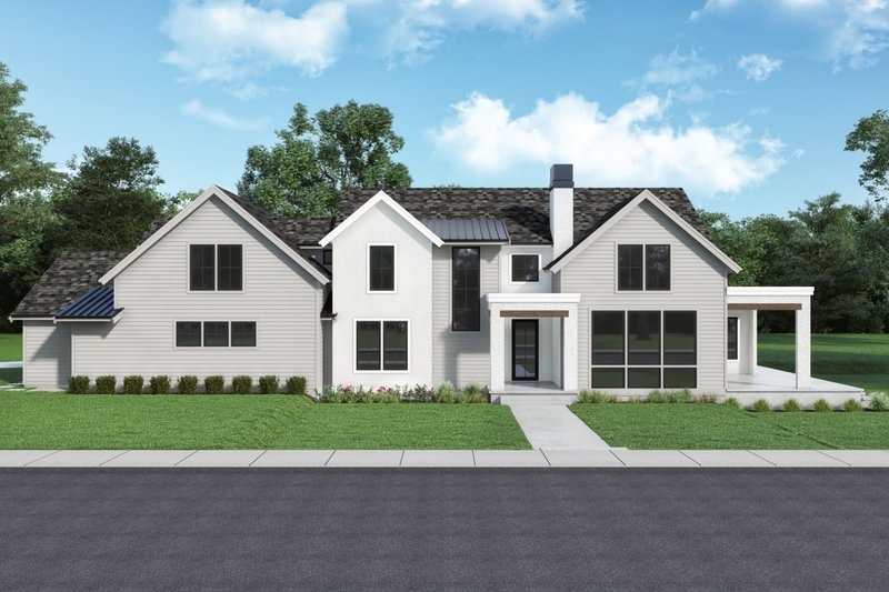 Farmhouse Style House Plan - 5 Beds 3.5 Baths 2767 Sq/Ft Plan #1070-133 Exterior - Front Elevation