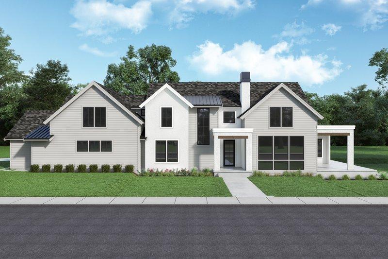 Dream House Plan - Farmhouse Exterior - Front Elevation Plan #1070-133