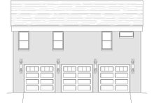 Contemporary Exterior - Rear Elevation Plan #932-149
