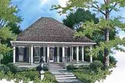 Southern Style House Plan - 1 Beds 1 Baths 848 Sq/Ft Plan #45-252 Exterior - Front Elevation