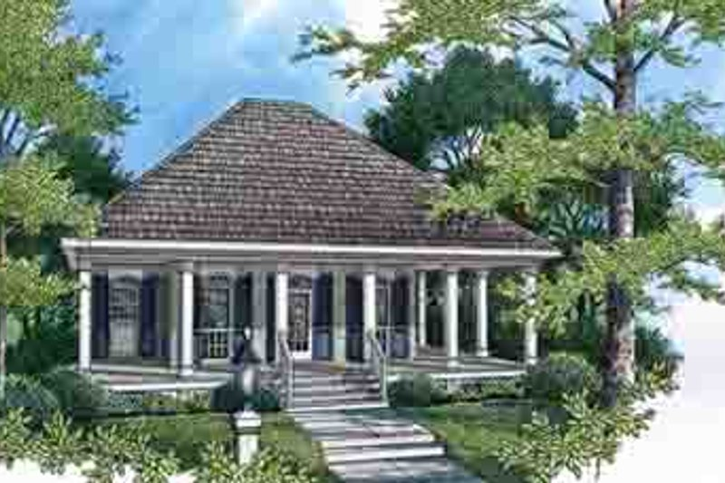 Architectural House Design - Southern Exterior - Front Elevation Plan #45-252