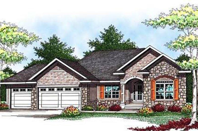 Architectural House Design - European Exterior - Front Elevation Plan #70-931