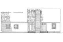 Colonial Exterior - Rear Elevation Plan #137-180