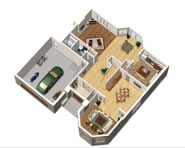 European Floor Plan - Main Floor Plan Plan #25-4692