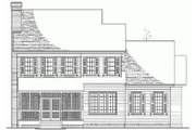 Colonial Style House Plan - 4 Beds 3 Baths 2474 Sq/Ft Plan #137-187 Exterior - Rear Elevation