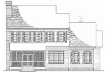 Dream House Plan - Colonial Exterior - Rear Elevation Plan #137-187