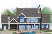 Craftsman Style House Plan - 4 Beds 3.5 Baths 3102 Sq/Ft Plan #929-60 Exterior - Rear Elevation