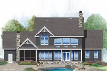 House Plan Design - Craftsman Exterior - Rear Elevation Plan #929-60