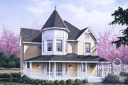 Victorian Style House Plan - 3 Beds 2.5 Baths 2050 Sq/Ft Plan #57-226 Exterior - Front Elevation