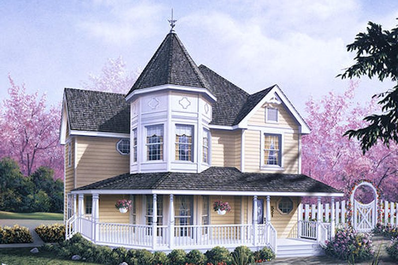 Victorian Style House Plan - 3 Beds 2.5 Baths 2050 Sq/Ft Plan #57-226