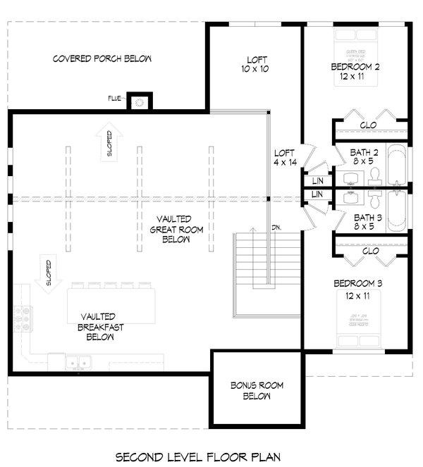 Dream House Plan - Traditional Floor Plan - Upper Floor Plan #932-413