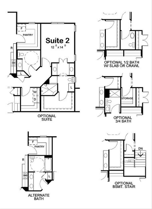European Floor Plan - Other Floor Plan Plan #20-2065