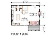 Craftsman Style House Plan - 3 Beds 2.5 Baths 1571 Sq/Ft Plan #79-297 Floor Plan - Main Floor