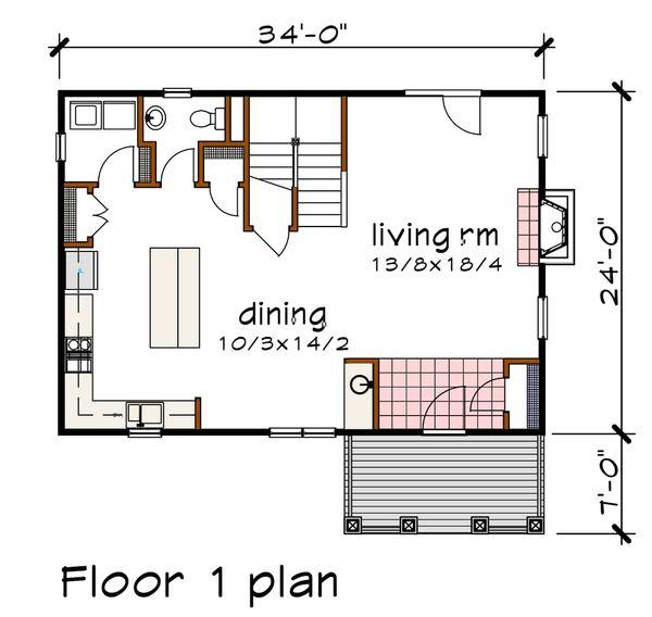 Craftsman Floor Plan - Main Floor Plan Plan #79-297