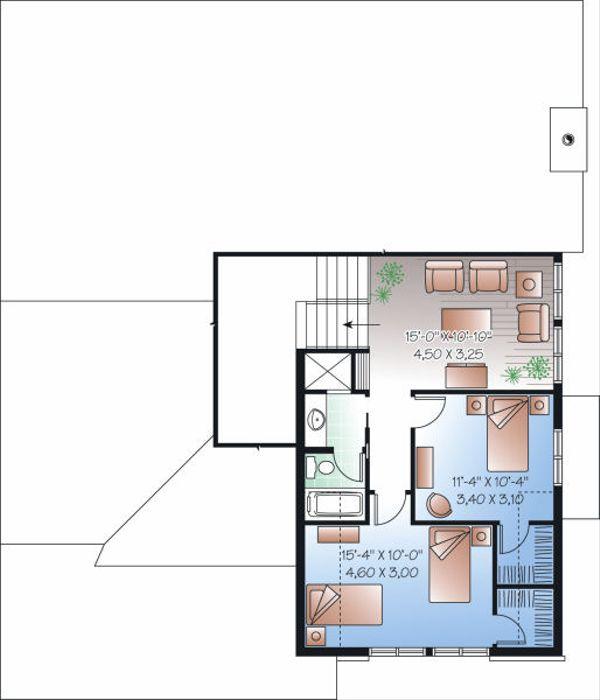 Craftsman Floor Plan - Upper Floor Plan Plan #23-813