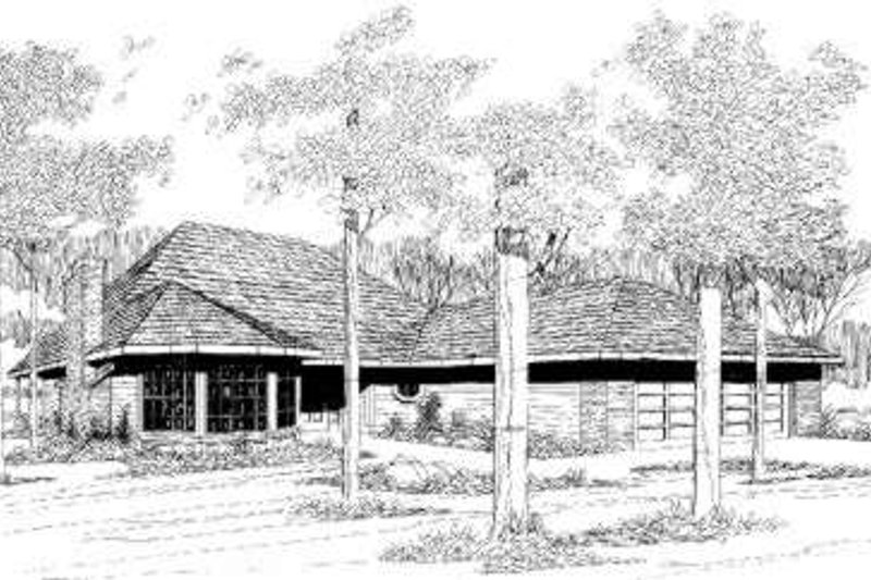Contemporary Style House Plan - 3 Beds 2 Baths 1299 Sq/Ft Plan #305-101 Exterior - Front Elevation