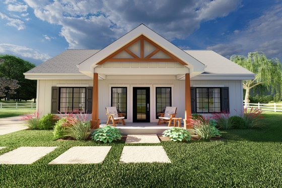 Farmhouse Exterior - Front Elevation Plan #126-236