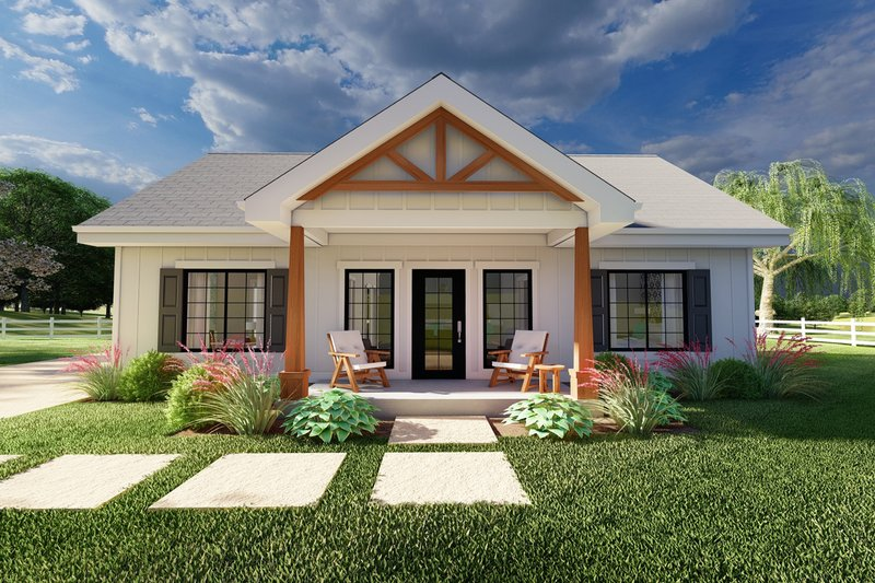 Dream House Plan - Farmhouse Exterior - Front Elevation Plan #126-236