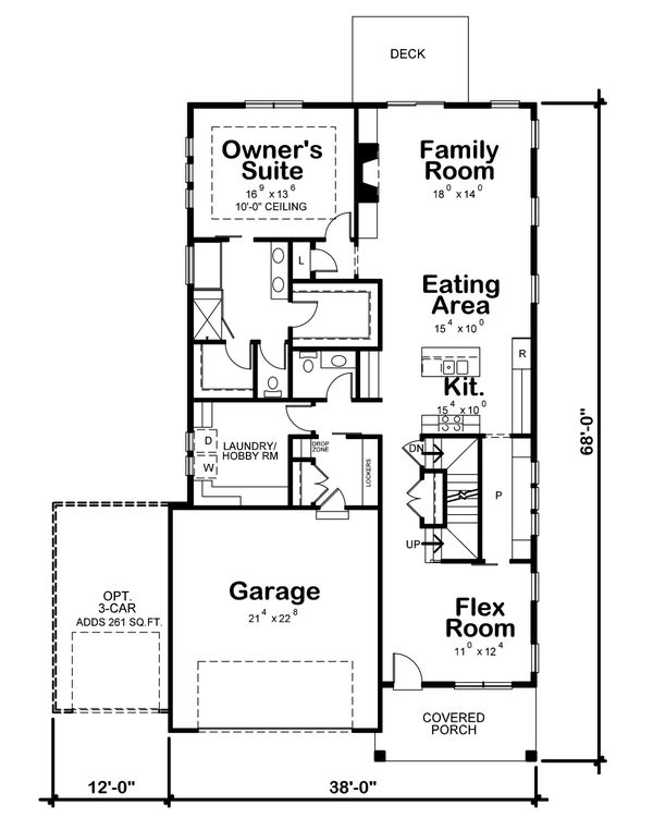 Craftsman Floor Plan - Main Floor Plan Plan #20-2359