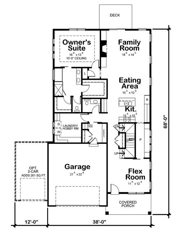 Dream House Plan - Craftsman Floor Plan - Main Floor Plan #20-2359