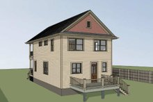 Home Plan - Bungalow Exterior - Rear Elevation Plan #79-213