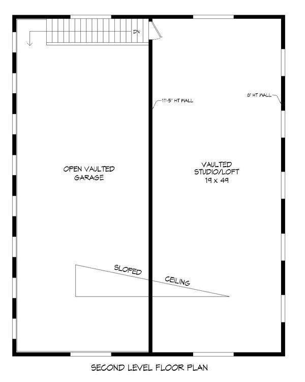 Contemporary Floor Plan - Upper Floor Plan Plan #932-72
