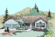 Dream House Plan - Traditional Exterior - Front Elevation Plan #60-274
