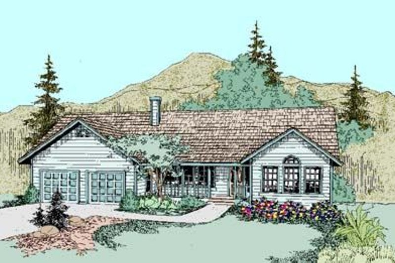 Traditional Style House Plan - 4 Beds 2 Baths 2045 Sq/Ft Plan #60-274 Exterior - Front Elevation