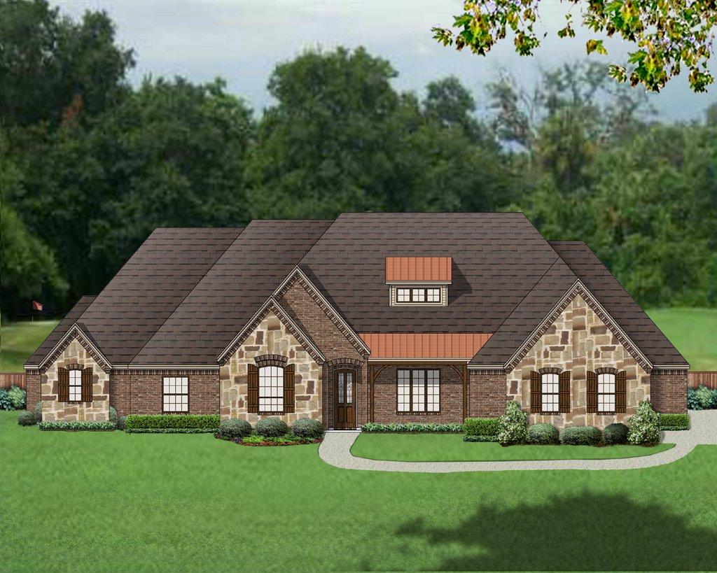 European style house plan 4 beds 2 5 baths 3364 sq ft for European farmhouse plans