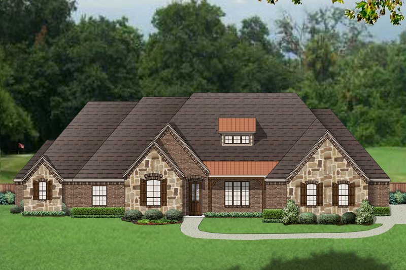 European Exterior - Front Elevation Plan #84-619