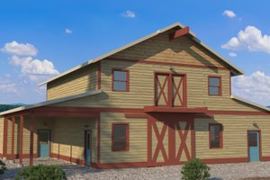 Dream House Plan - Farmhouse Exterior - Front Elevation Plan #895-116