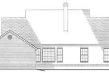 Southern Exterior - Rear Elevation Plan #406-160