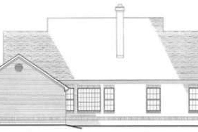 Southern Exterior - Rear Elevation Plan #406-160 - Houseplans.com