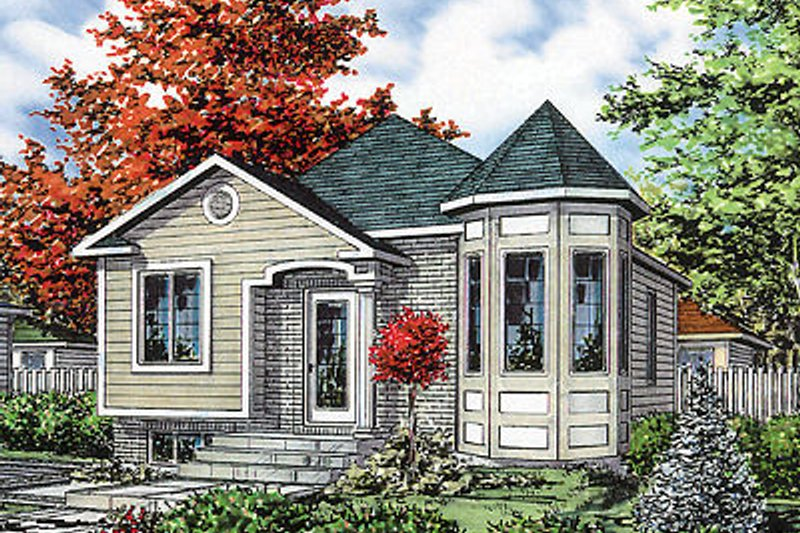 Traditional Style House Plan - 2 Beds 1 Baths 865 Sq/Ft Plan #138-207 Exterior - Front Elevation